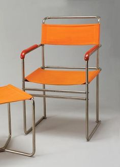 Marcel Breuer, tubular chairs and stool, Bauhaus Furniture, Art Deco Furniture, My Furniture, Furniture Design, Marcel Breuer, Home Depot Adirondack Chairs, Outfit Trends, Cool Chairs, Architecture