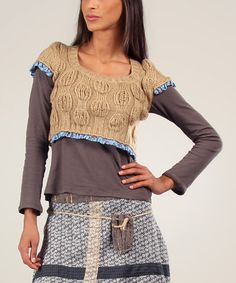 Love this Camel Helene Wool-Blend Sweater & Tee by Ian Mosh on #zulily! #zulilyfinds