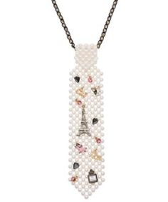 PEARL TIE NECKLACE - Betsey Johnson