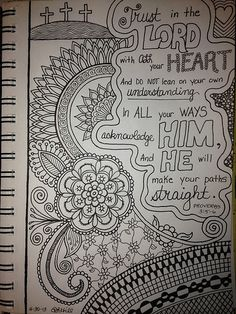 Inspirational Doodle by Patricia Hill -- This is one of my favorite verses in the Bible.