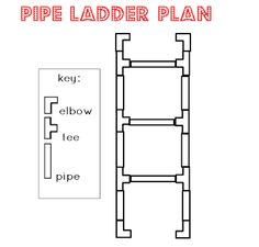 everyday organizing: PVC Pipe Ladder
