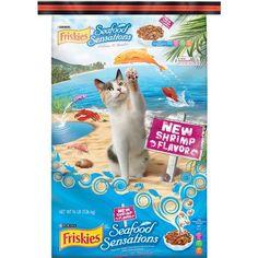 Friskies Dry Cat Food, Seafood Sensations Dry, 16 lb Bag