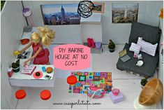 Casa di Barbie fai da te a costo zero *  DIY Barbie house at no cost