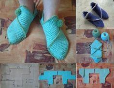DIY Easy Knitting Home Slippers