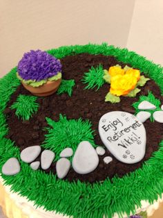 Retirement Cake for a gardener/HalfMoonBakery& Bistro LLC