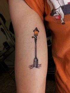 Narnia style lamp post tattoo - Til Death Tattoo, Portland, ME