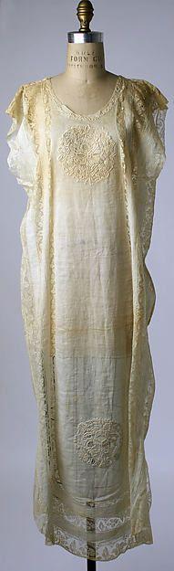 Nightgown Designer: Boué Soeurs (French) c.1919 cotton