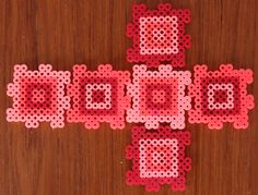Perler Bead Box Template... Fun puzzle to take apart and reassemble. Over and over again. Check out http://technicolourcanvas.wordpress.com by Steph Leech-Pepin