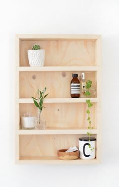 DIY | bathroom storage shelf @burkatron