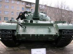 The T-54 and T-55 tanks were a series of main battle tanks designed in the Soviet Union. The first T-54 prototype appeared in March 1945, just before the end of the Second World War. The T-54 entered full production in 1947 and became the main tank for armored units of the Soviet Army, armies of the Warsaw Pact countries, and others. T-54s and T-55s were involved in many of the world's armed conflicts during the late 20th century...
