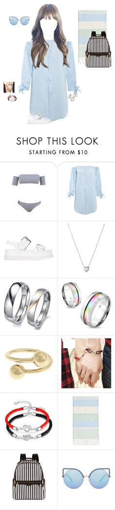 """""""Going to the beach with Dae-Suk , the twins, and Hana~Luna"""" by luna-from-dna ❤ liked on Polyvore featuring STELLA McCARTNEY, Links of London, West Coast Jewelry, J.W. Anderson, Linum Home Textiles, Henri Bendel and Matthew Williamson"""