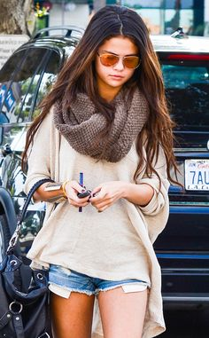 Image result for selena gomez wearing a scarf 2016