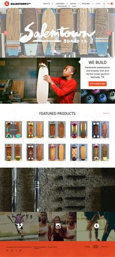 Handmade Skateboards Made To Explore Web Design Color, Ui Ux Design, Interface Design, User Interface, Graphic Design, Ui Web, Website Designs, Showcase Design, Web Design Inspiration