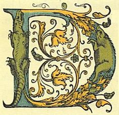 Origins of cloth bindings - Learn about bookbinding and other book . Calligraphy Letters, Typography Letters, Caligraphy, Illuminated Letters, Illuminated Manuscript, Letter D, Alphabet Letters, Art Classroom, Bookbinding