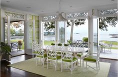 Open Dining Room With A View