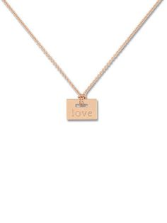 Ginette NY - Mini Love Plate Necklace
