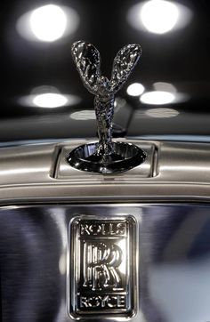 The hood ornament on a Rolls Royce Phantom Drophead Coupe at the Chicago Auto Show. (Michael Tercha/Chicago Tribune)