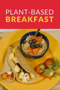 Try this delicious and nutritious plant-based breakfast! Plant Based Breakfast, What You Eat, Vegan Life, Eat Healthy, Vegan Vegetarian, Healthy Lifestyle, Diet, Ethnic Recipes, Food