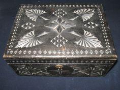 old wood casket