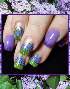 Lilacs with purple glitter.  Inspired by Robin Moses.