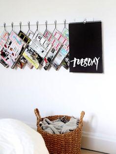 Lectuur aan de muur Zo gebruik je die rondslingerende magazines juist als eyecatcher in je interieur >| ELLE