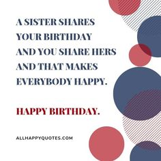 Best Happy Birthday Wishes for Sister & sister-and-law, this beautiful collection of heartfelt special funny birthday wishes for sister will make her happy. Birthday Wishes For Sister, Birthday Wishes Funny, Happy Birthday Fun, It's Your Birthday, I Party, Sisters, How To Make, Image, Birthday Greetings To Sister
