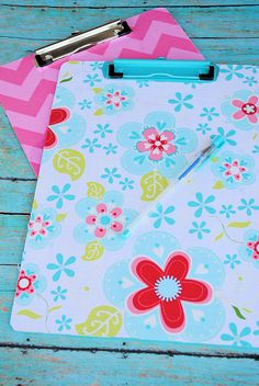 Fabric Covered Clipboard Tutorial - I wonder if I can find some fun fabric to make one for Benjamin?