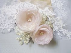 One of my all time favorites! I love this hair comb <3,This flower headpiece will give you a spring look that will add  a touch of romance to your bridal look!