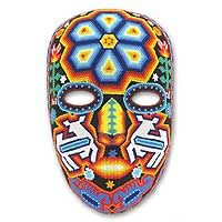 Huichol mask - Novica,  Might like to get