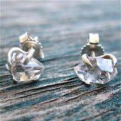 Gather Raw Herkimer Diamond Earrings