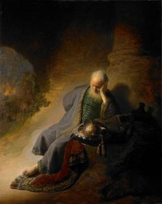 Rembrandt, Jeremiah Lamenting the Destruction of Jerusalem