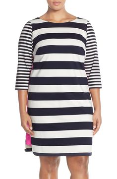Eliza J Stripe Color Pop Sheath Dress (Plus Size)