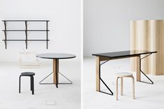 """ARTEK """"KAARI"""" table collection by the bouroullec brothers"""