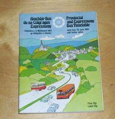 CIE AMCHLAR BUS DO NA CUIGI AGUS PROVINCIAL & EXPRESSWAY BUS TIMETABLE June 1983 June, Cover, Books, Libros, Book, Book Illustrations, Libri