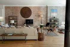 35 Stunning Brick Walls Ideas For A Living Room | decoratrend.com