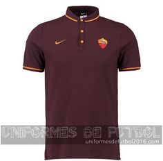 Venta de Camisetas polo marron AS Roma 2015-16