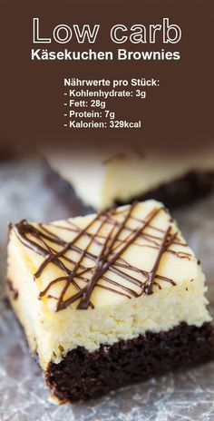 Low carb cheesecake brownies – Low carb Kuchen – Welcome The Recipe Cheesecake Brownies, Low Carb Cheesecake, Keto Brownies, Cheese Brownies, Low Carb Desserts, Healthy Dessert Recipes, Low Carb Recipes, Snack Recipes, Pork Recipes