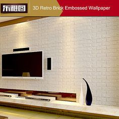 New 3D Foam Stone Brick Self-adhesive Wallpaper DIY Wall Sticker Panels Decal