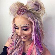 Unique Festival Makeup & Hairstyles Ideas