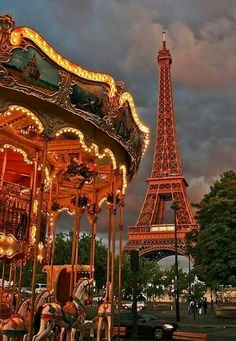 Eiffel Tower Carousel  http://youtu.be/PBSX58JSRRg   http://youtu.be/hWo-43ObCP8  Paris
