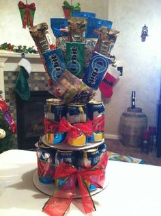 Beer cake, me & mom should make this for lane for his birthday!! Hahaha