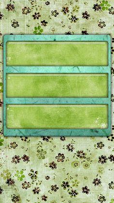 Green/flowers shelf