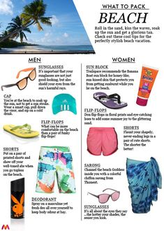 What to Pack when going to the beach!