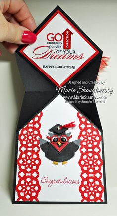 Stampin' Up!  Graduation Punch Art  Marie Shaughnessy at Stamping Inspiration