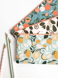 inspiration Nature Lover Zipper Pouch, Ins - Cute Pencil Pouches, Pencil Bags, Cute Pencil Case, Zipper Pouch, Zipper Bags, Cute School Supplies, Summer Fruit, Fabric Bags, Fabric Basket