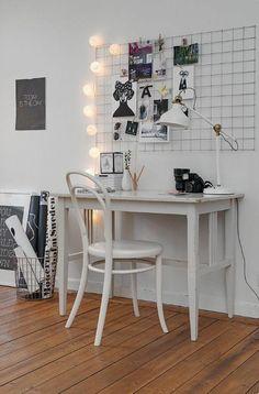 Work space art studio home decor, room decor, apartment deco Apartment Decorating On A Budget, Interior Decorating, Decorating Ideas, Apartment Ideas, Home And Deco, My New Room, Office Decor, Office Ideas, Office Hacks