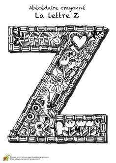 Coloriage abecedaire crayonne lettre x sur Hugolescargot