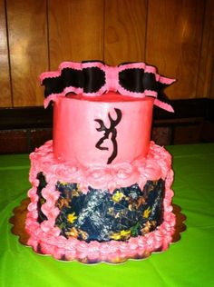 Pretty in pink Dangerous in camo! Camo Birthday Cakes, Sweet 16 Birthday Cake, 16th Birthday, Birthday Stuff, Birthday Ideas, Pink Camo Cakes, Present Cake, Cupcake Cakes, Cupcakes