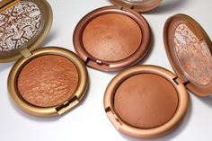 Urban Decay Baked Bronzers clockwise from left: Gilded, Baked and Toasted (26 each)