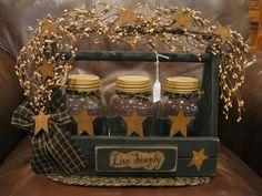 Primitive Crafts | Primitive Jar Cubby | Crafts